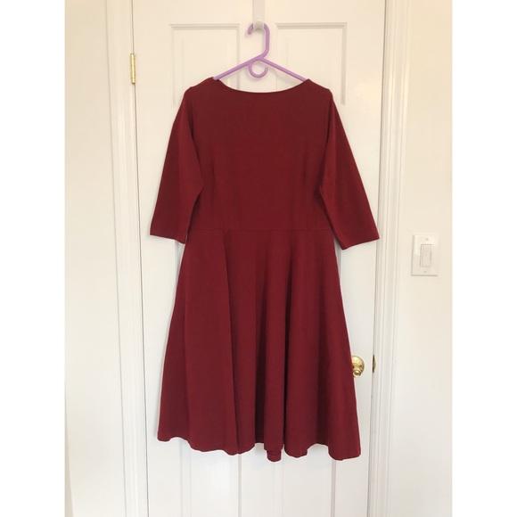 eshakti Dresses & Skirts - eShakti Boat Neck Elbow-length Dress